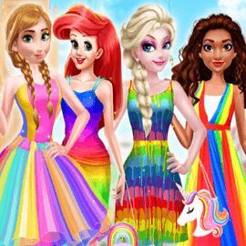 Princess Rainbow Style Fashion