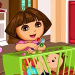 Dora Baby Caring Slacking