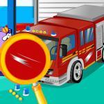 Emergency Vehicle At Carwash