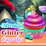 Mermaid Glitter Cupcakes