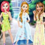 Princess In Floral Dress